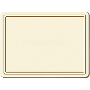 Creative Tops Classic Pack Of 6 Premium Placemats Cream