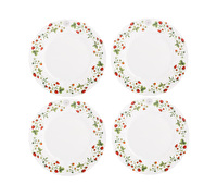 Kew Gardens Strawberry Fayre Set Of 4 Side Plates