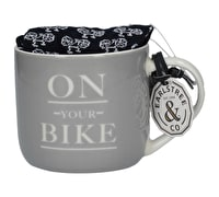 Creative Tops Earlstree & Co On Your Bike Curved Can Mug And Socks Set