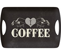 Creative Tops I Love Coffee Large Luxury Handled Tray