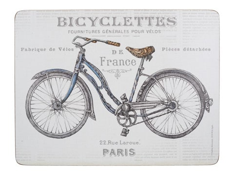 Creative Tops Bicycle Pack Of 6 Premium Placemats
