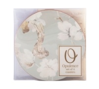 Creative Tops Duck Egg Floral Pack Of 4 Round Premium Coasters