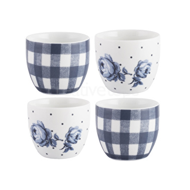 Katie Alice Vintage Indigo Set Of 4 Egg Cups