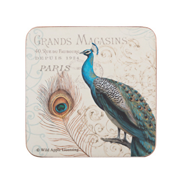 Creative Tops Peacock Pack Of 6 Premium Coasters
