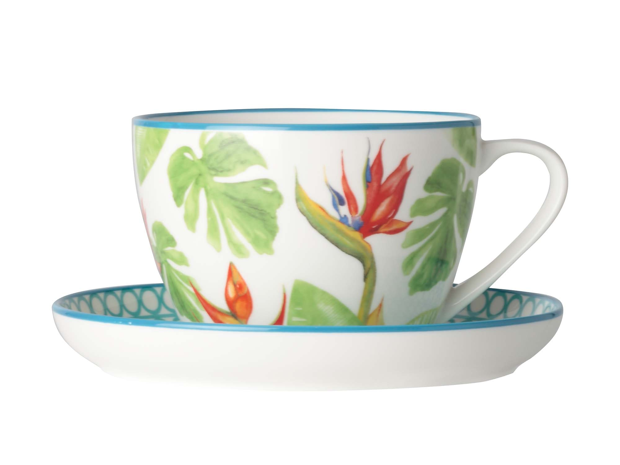 Christopher Vine Paradiso 260Ml Teacup N Saucer