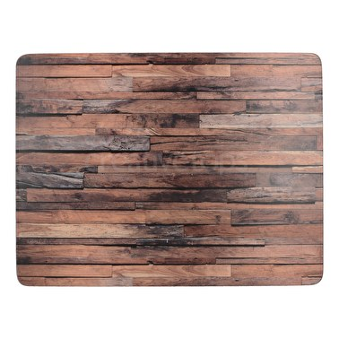 Creative Tops Wood Cabin Pack Of 6 Premium Placemats