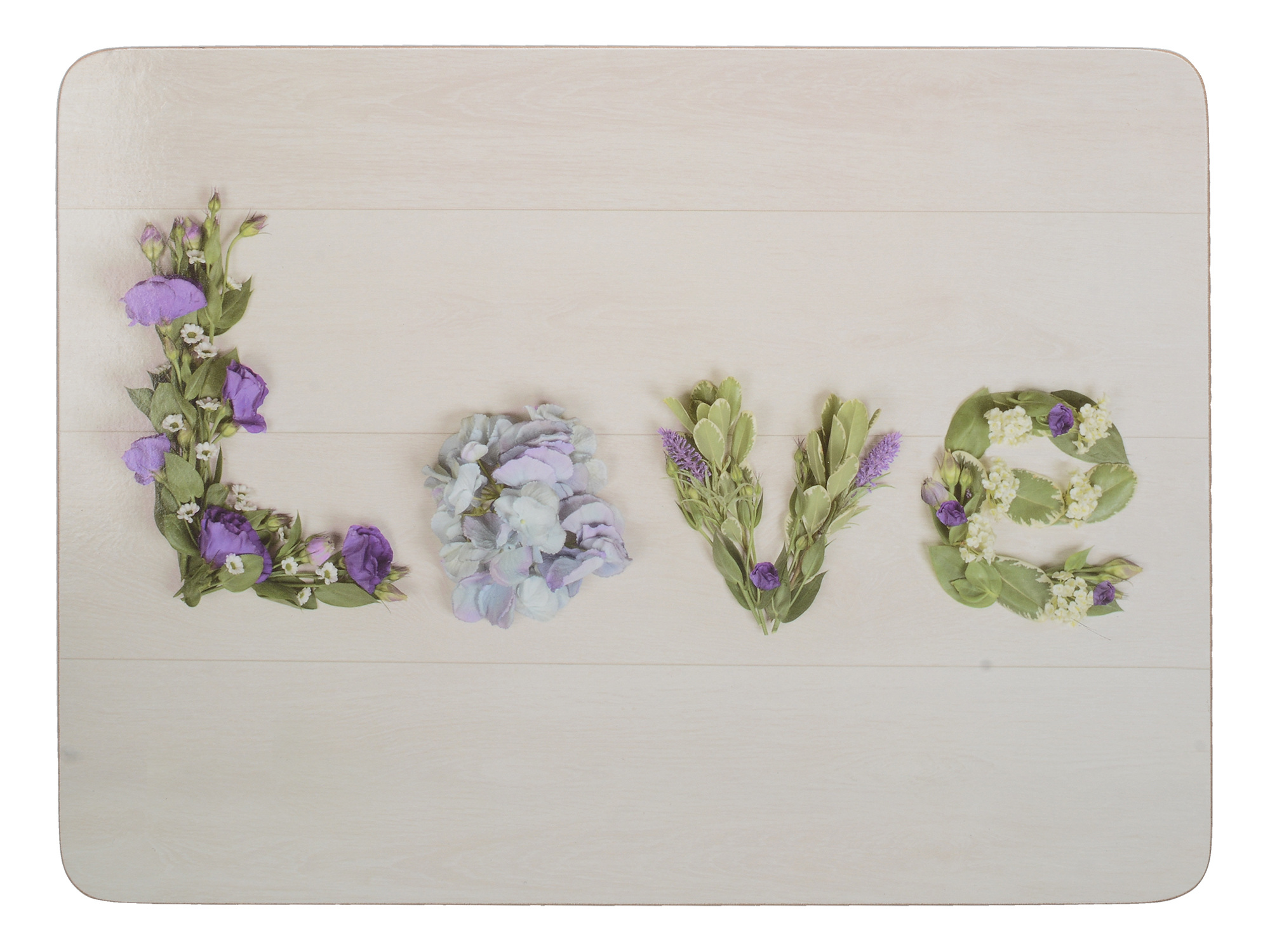 Everyday Home Floral Love Pack Of 4 Placemats