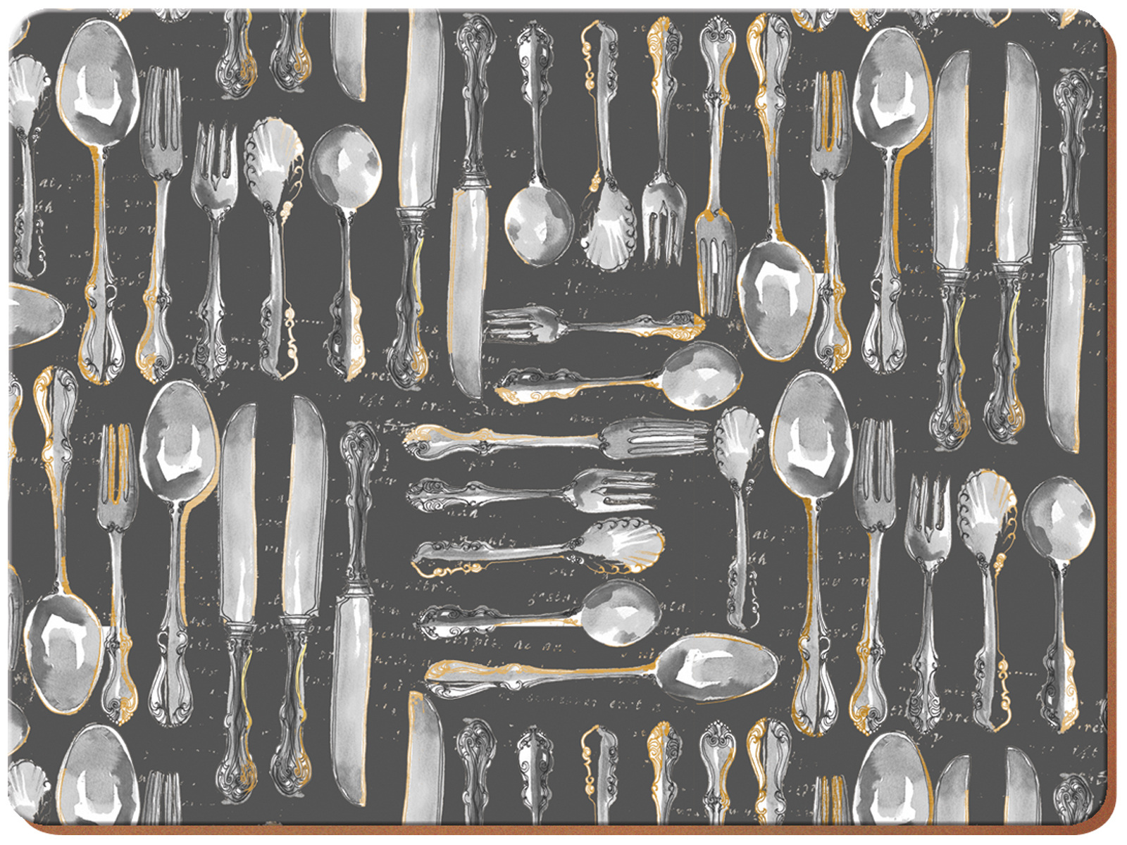 Creative Tops Metallic Cutlery Pack Of 6 Premium Placemats