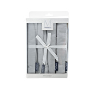 M By Mikasa Whiteware Set Of 4 Napkins Grey