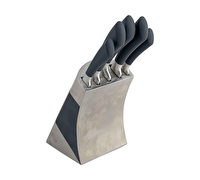 Sabatier Maison Stainless Steel 5 Peice Knife Block