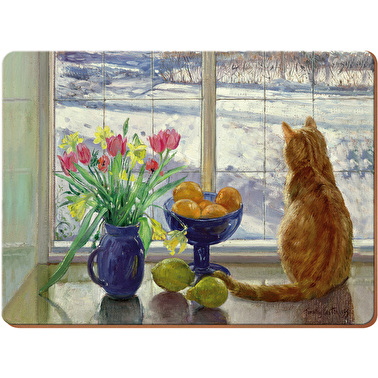 Creative Tops Snowy Cat Pack Of 6 Premium Placemats