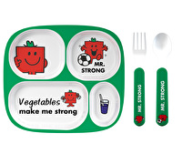 Mr Men Mr Strong 4pc Melamine Dinner Set