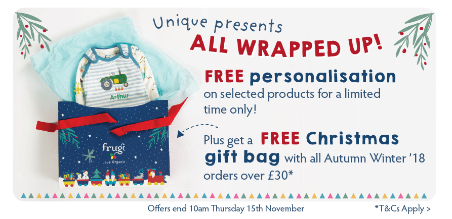 Unique presents ALL WRAPPED UP! Free personalisation PLUS a FREE Christmas gift bag on orders over £30