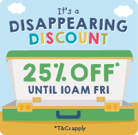 Disappearing Discount - 25% Off
