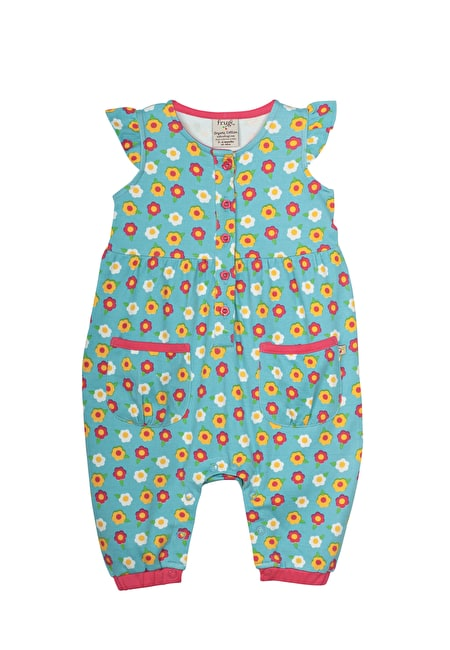 Flower Button Dungarees
