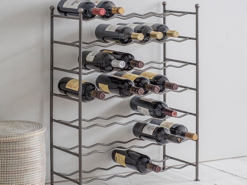 Farringdon Wine Rack filled with bottles of wine