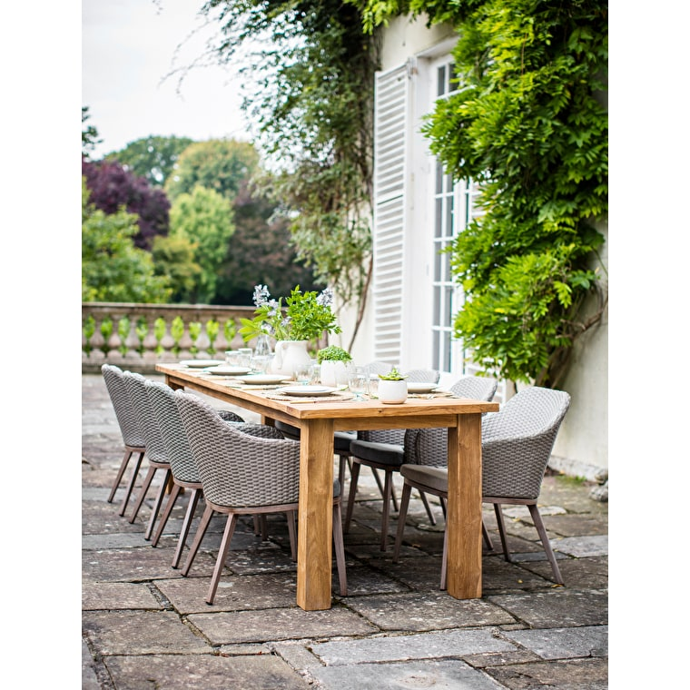 Reclaimed TeakSt Mawes Outdoor Refectory Table, 10 Seater | Garden Trading