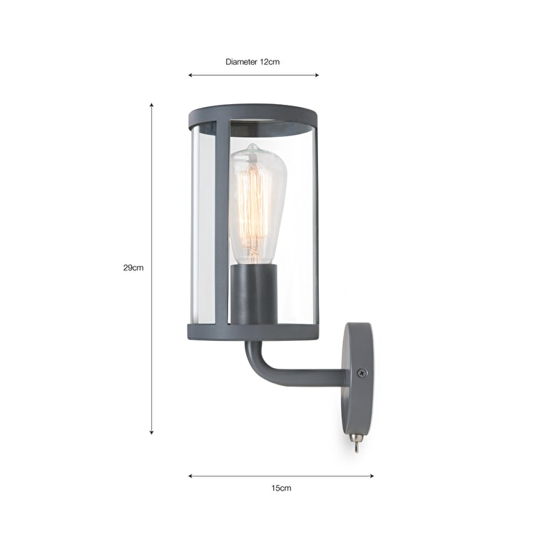 Cadogan Indoor Wall Light in Grey | Garden Trading