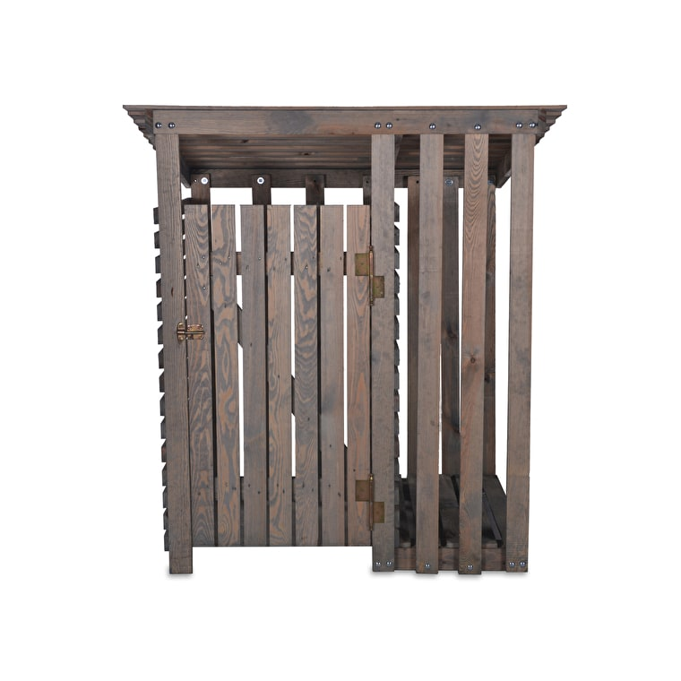 Wooden Aldsworth Wheelie Bin and Log Store  | Garden Trading