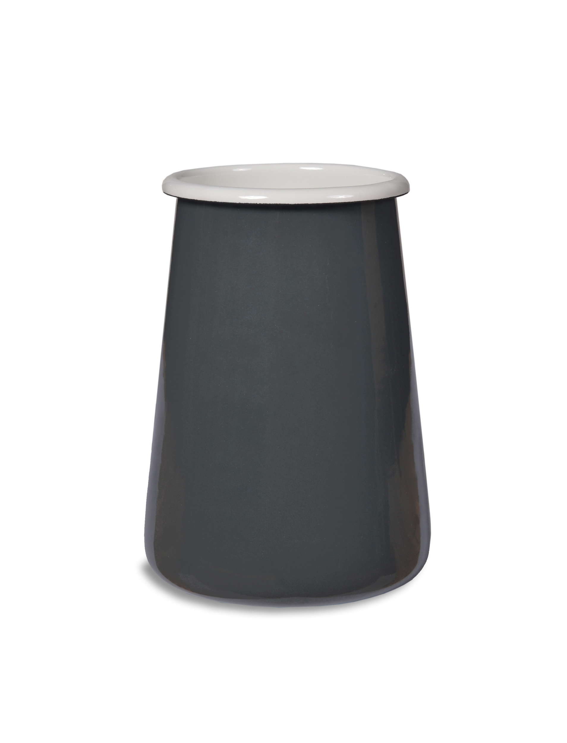 Enamel Utensil Holder in Grey  | Garden Trading