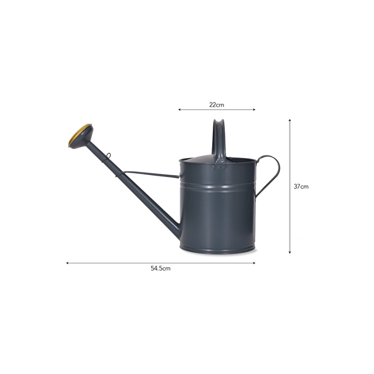 Steel and Brass 10L Watering Can in Green or Black | Garden Trading