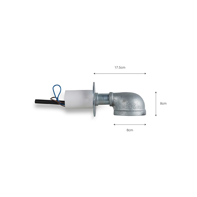Hot Dipped Galvanised Steel St Ives Wall Mounted Path Light | Garden Trading