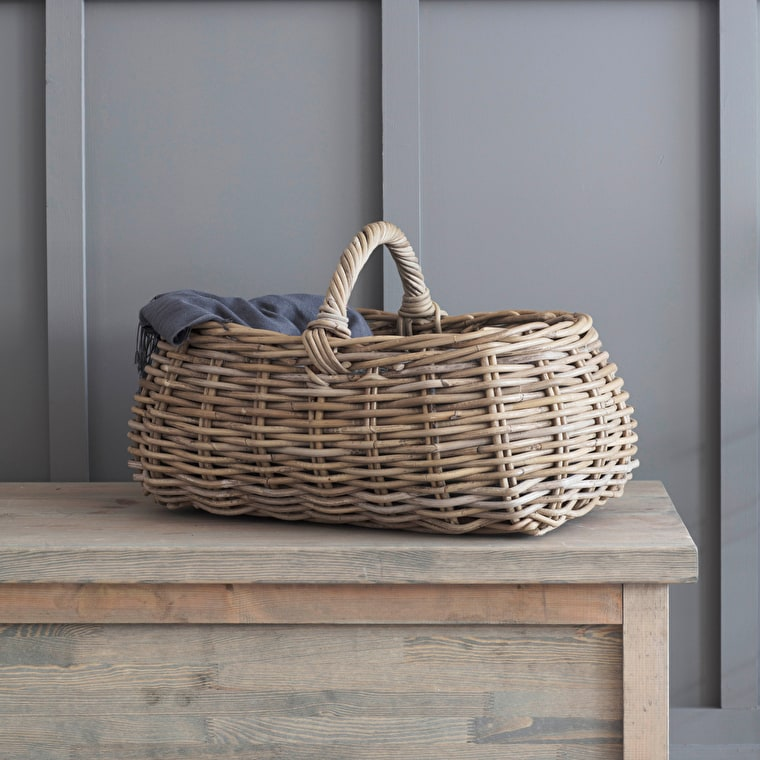Rattan Bembridge Forage Picnic Basket | Garden Trading
