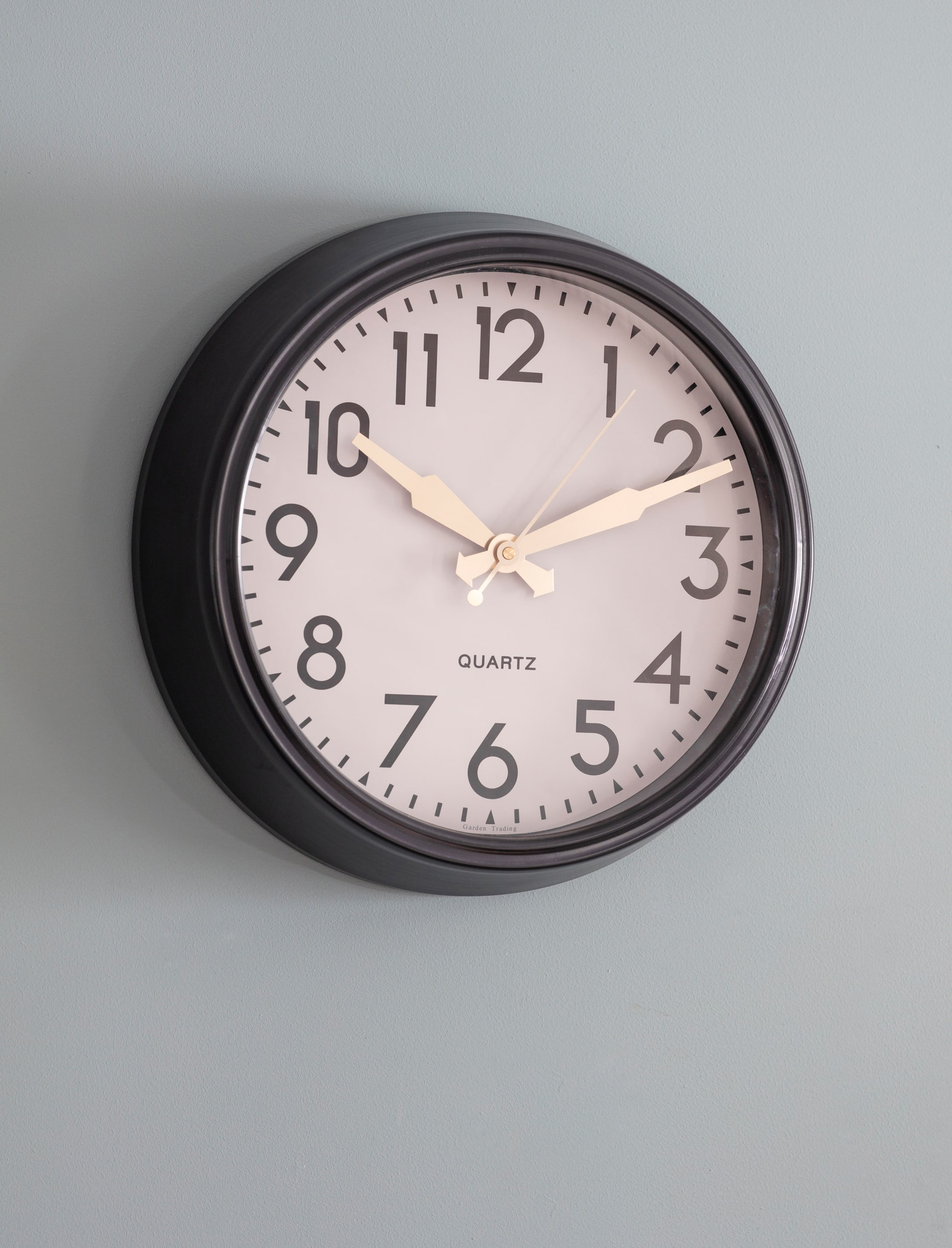 Steel Greenwich Indoor Clock, Black in Small or Large   Garden Trading