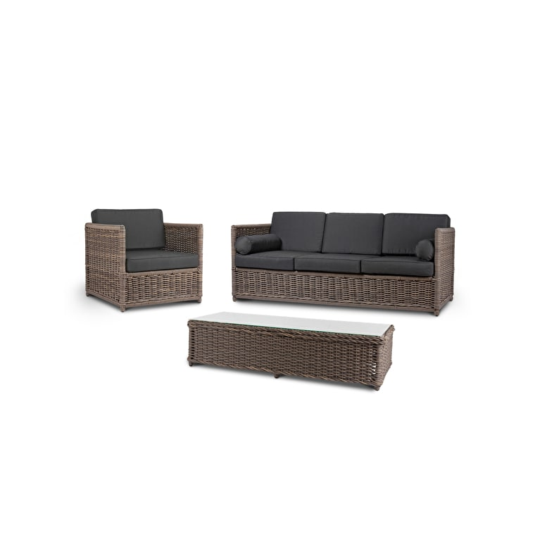 All-weather Rattan Harting Outdoor Sofa Set | Garden Trading