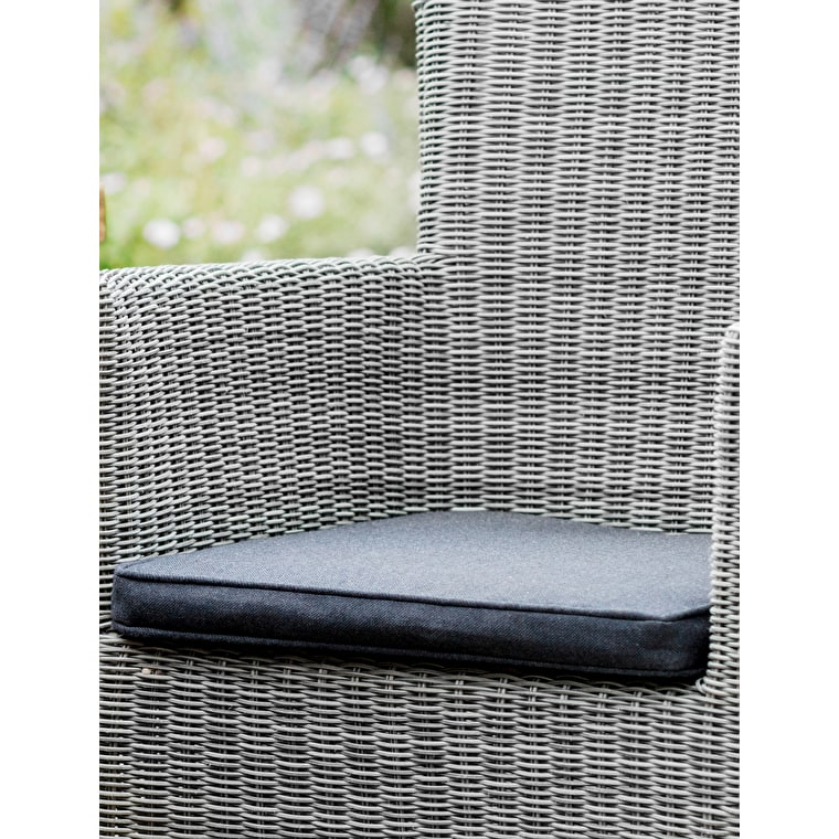 Driffield Chair Cushion in Dark Grey | Garden Trading