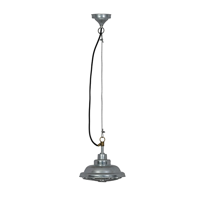 Hot Dipped Galvanised Steel St Ives Mariner Outdoor Pendant Light  | Garden Trading