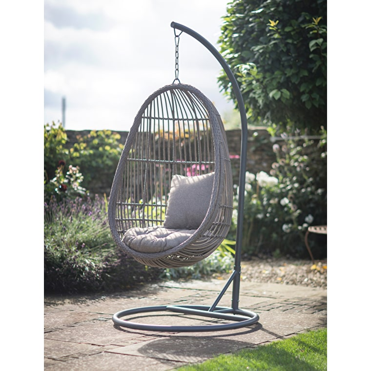 All-weather Rattan Hanging Nest Chair | Garden Trading