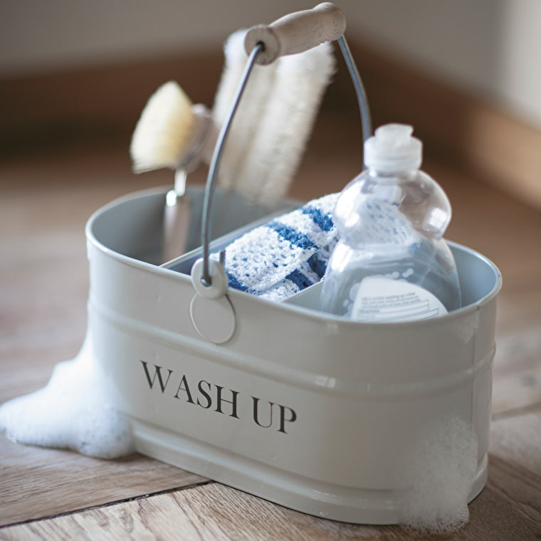 Steel Wash Up Tidy in White or Blue | Garden Trading