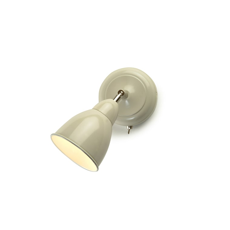 Chiswick Indoor Wall Light in Grey or Cream | Garden Trading