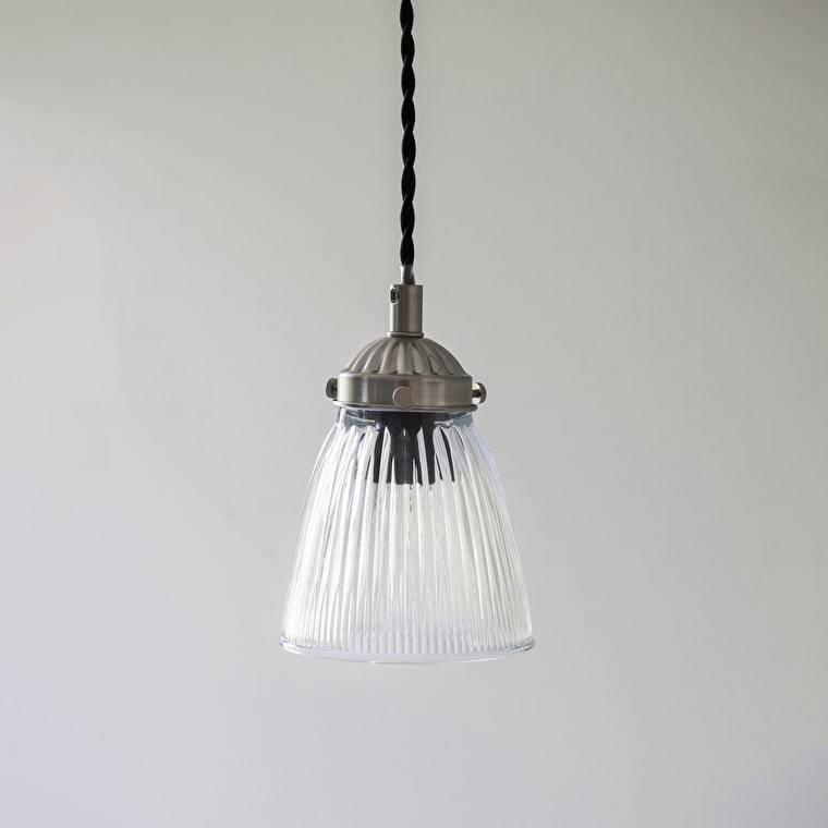 Indoor Single Paris Ceiling Light in Silver or Bronze | Garden Trading