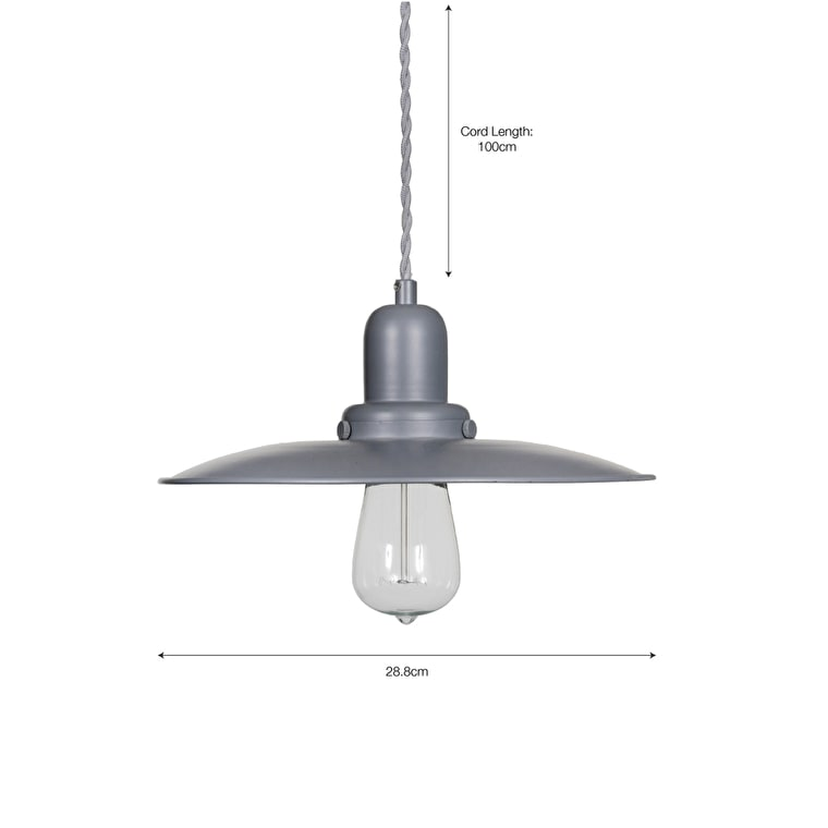 Hobury Indoor Pendant Light in Grey  | Garden Trading