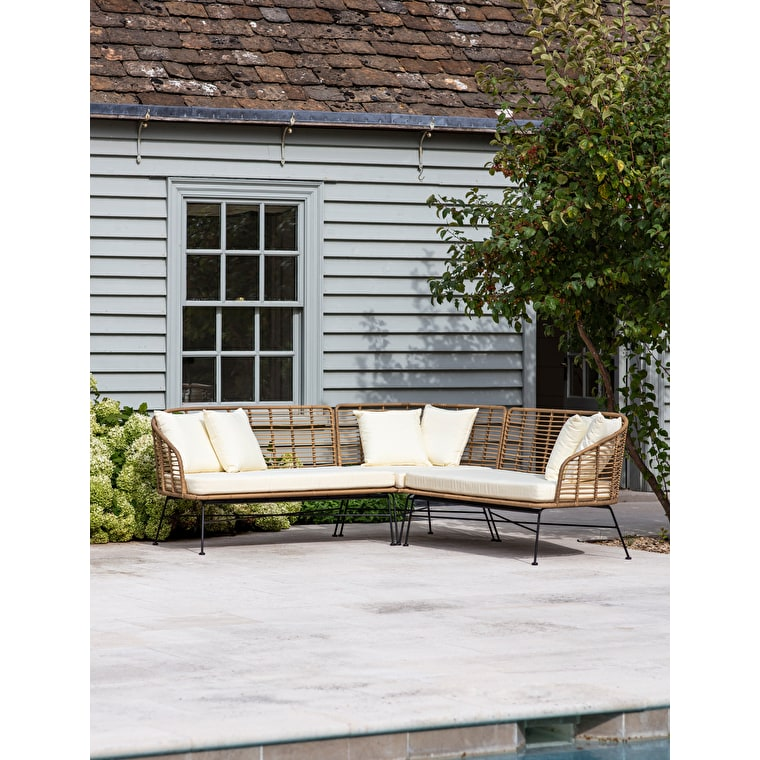 All-weather Bamboo Hampstead Outdoor Corner Sofa | Garden Trading