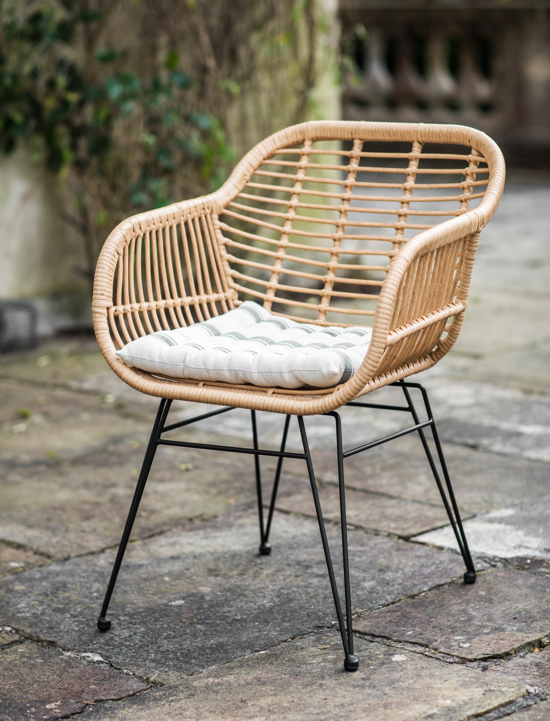 All-weather Bamboo Set of 2 Hampstead Chairs   Garden Trading