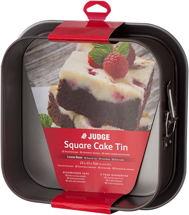Judge Bakeware  Square Cake Tin, Springform, Non-Stick