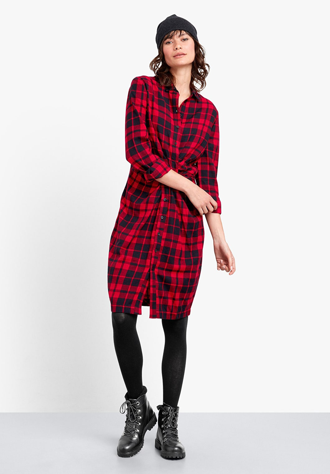 Charlie Twist Flannel Dress | hush