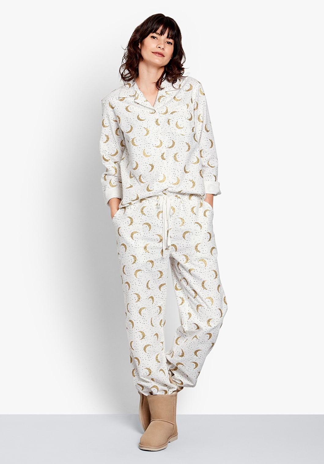 Moon Dot Flannel Pyjamas | hush