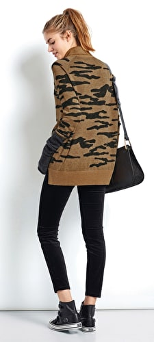 Oversized Camo Jumper