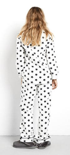 Star Piped Flannel Pyjamas