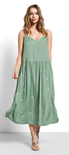 Tori Star Embroidered Dress