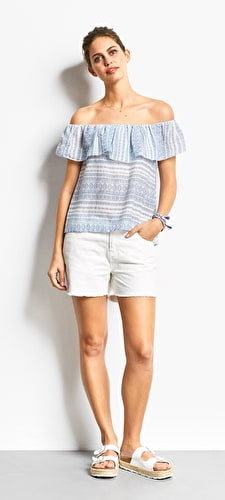 Provence Ruffle Top