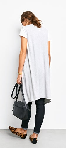 Sleeveless Waterfall Cardi