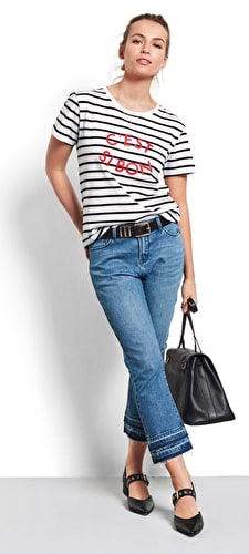 C'est Si Bon Striped Tee