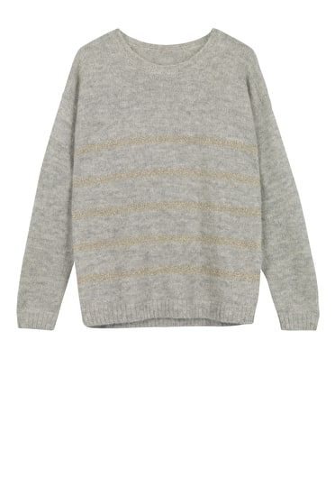 Striped Lurex Jumper