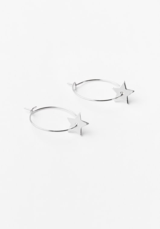 Beautiful hoop star earings in our stunning pink and silver