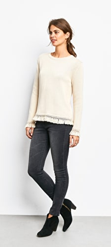Frayed Cuff Jumper